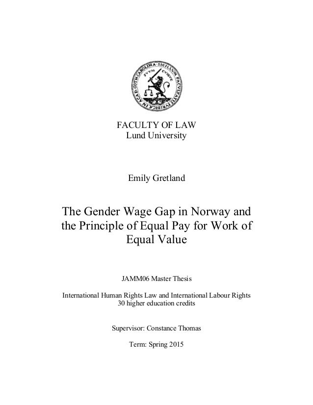 Thesis statement for gender pay gap