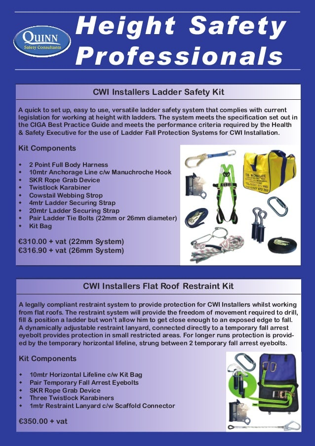 Quinn Safety Consultants Ltd Wah Cwi Height Safety