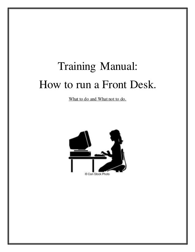 training manual rh slideshare net front desk receptionist training manual receptionist training manual pdf