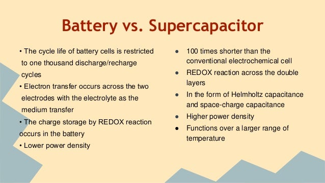 Supercapacitors As An Energy Storage Device on capacitor battery storage