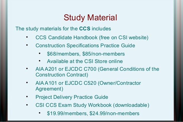 csi certification presentation rh slideshare net Cicerone Exam Study Guide Exam Study Guide Brady Michael Morton