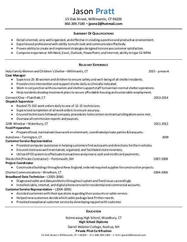 jason pratt case manager resume final