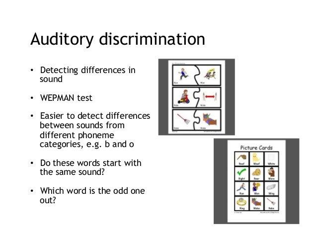 wepman auditory discrimination test