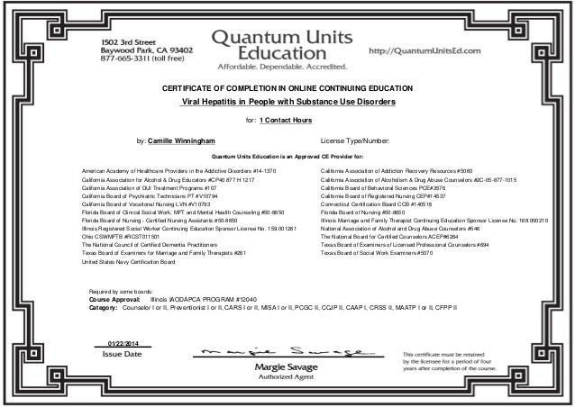 CEU Certificates 2014