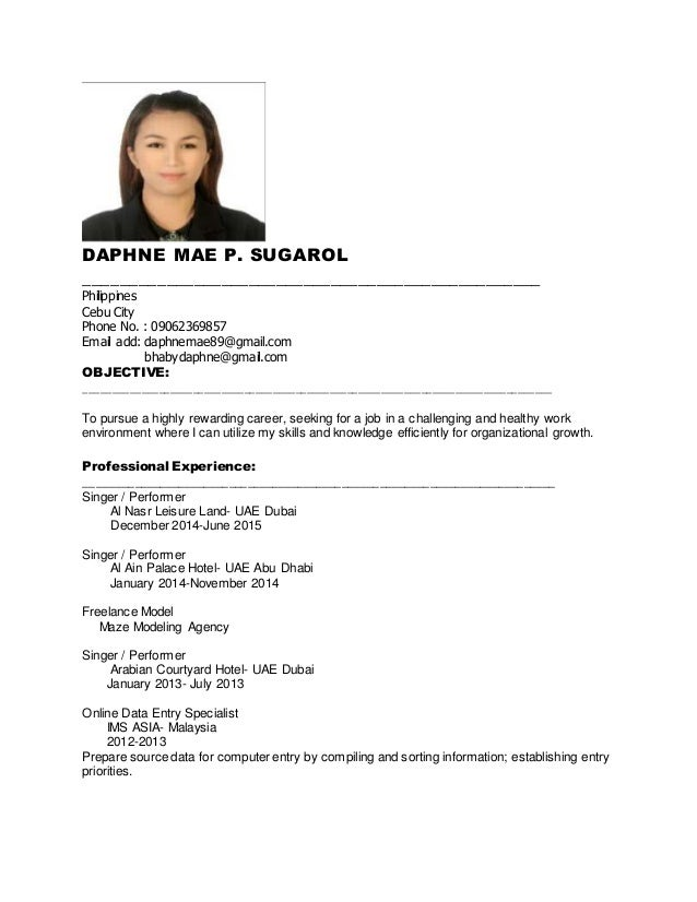 Daphne new resume for job daphne new resume for job daphne mae p sugarol altavistaventures Images