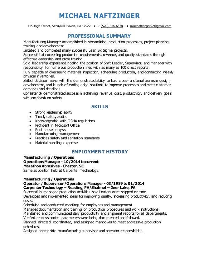 resume complete december 2016