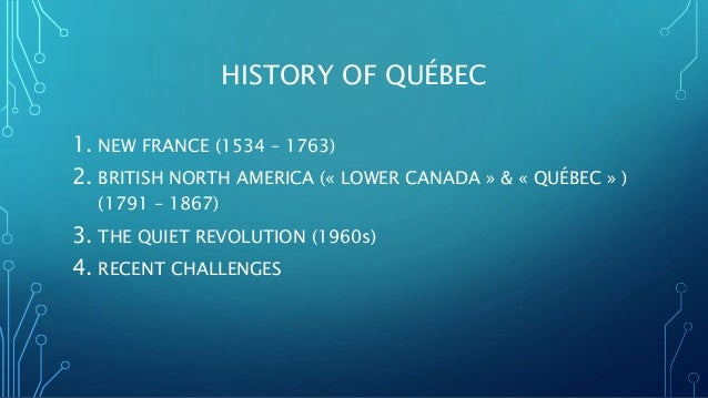 catholicism in quebec and the quiet revolution essay Bernie sets the record straight on socialism   real time with bill maher (hbo) - duration: 7:18 real time with bill maher 2,321,348 views.