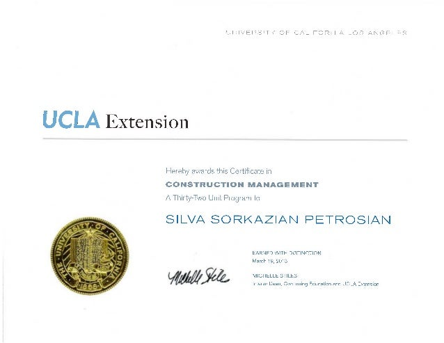 UCLA Extension-Certificate in Construction Management