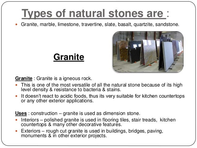 Natural Amp Artificial Stones Amp Its Uses In Designing