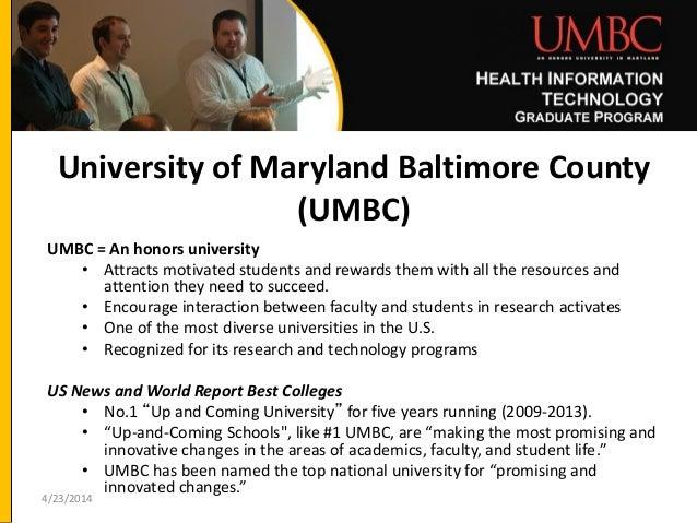 UMBC Professional Master's in Health IT Program Overview