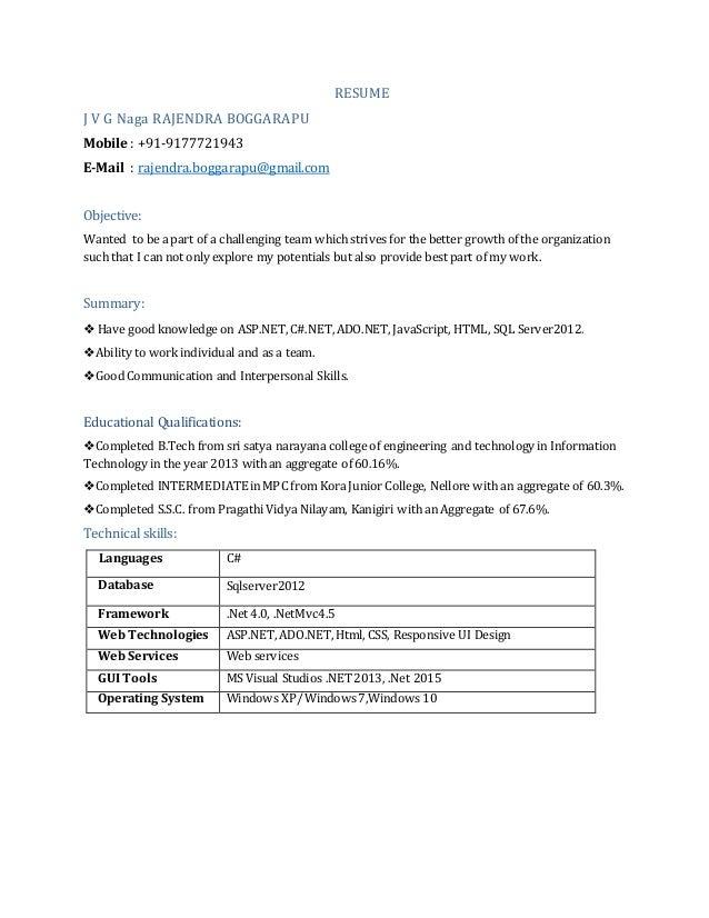 dotnet resume 1year