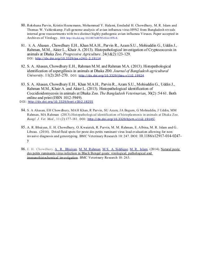80. Rokshana Parvin, Kristin Heenemann, Mohammad Y. Halami, Emdadul H. Chowdhury, M. R. Islam and Thomas W. Vahlenkamp. Fu...