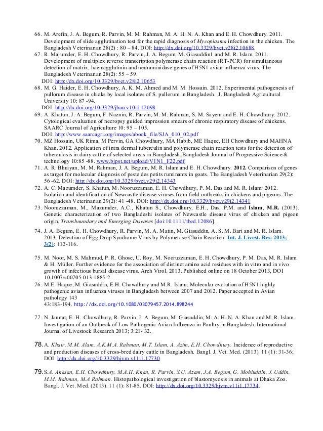 66. M. Arefin, J. A. Begum, R. Parvin, M. M. Rahman, M. A. H. N. A. Khan and E. H. Chowdhury. 2011. Development of slide a...