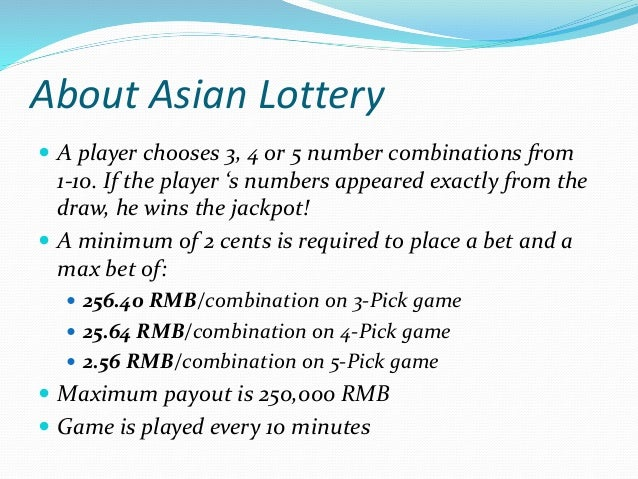 House Edge Market Chances Payout House Edge 0 – 9 Lottery 3 Picks (In Order) 1 out of 1,000 x 974 2.5% 4 Picks (In Order) ...