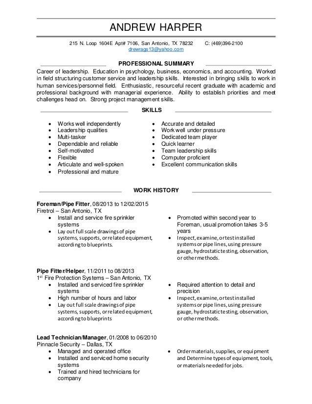 Resume Leadership Skills aploon