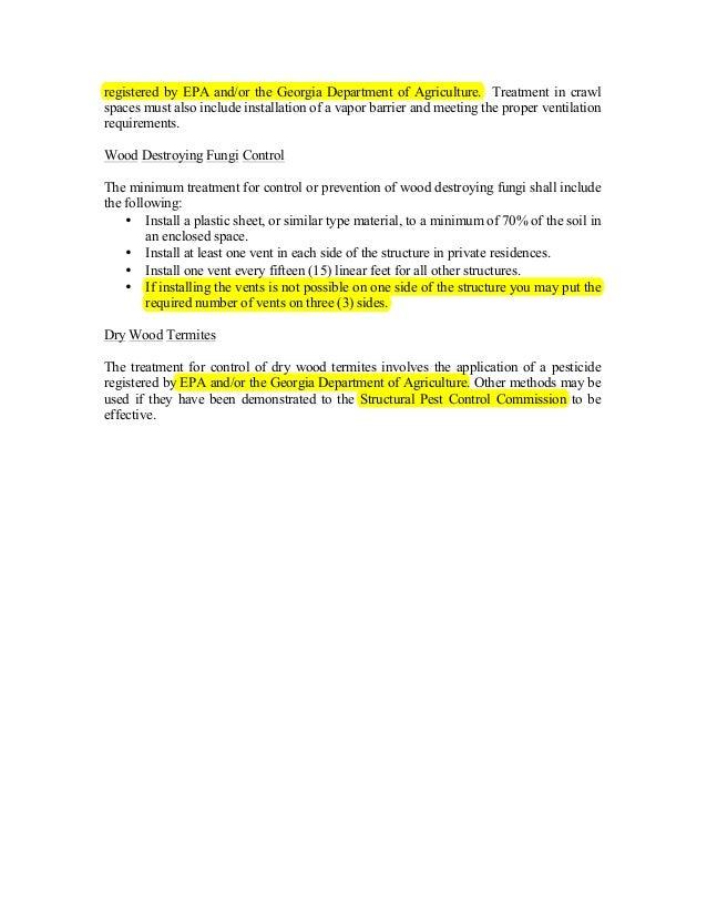 Georgia Pest Control Study Guide