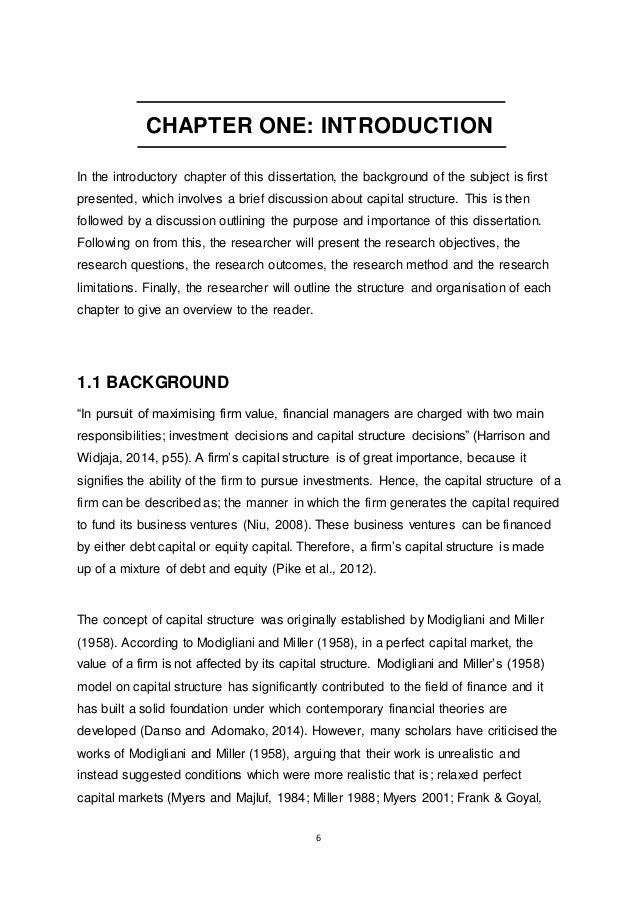 psychology dissertation introduction
