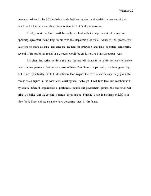 Wagner Llc Paper Final Draft