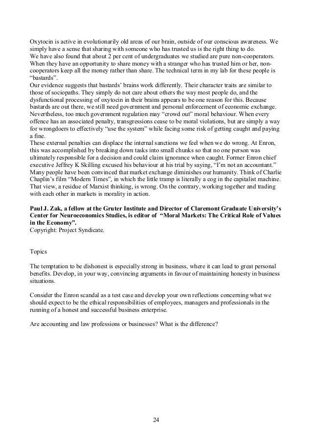 Friedman business ethics essay
