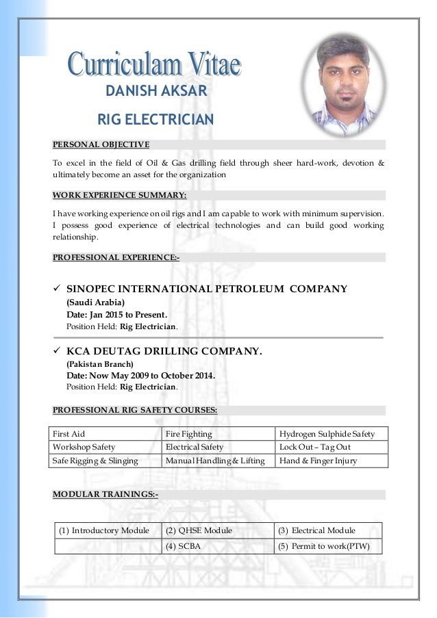 Electrician Resume Pdf