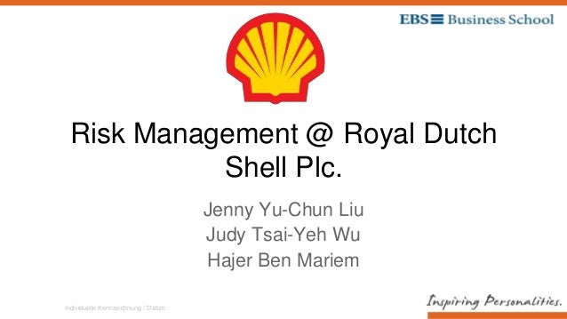 Individuelle Kennzeichnung / Datum Risk Management @ Royal Dutch Shell Plc. Jenny Yu-Chun Liu Judy Tsai-Yeh Wu Hajer Ben M...