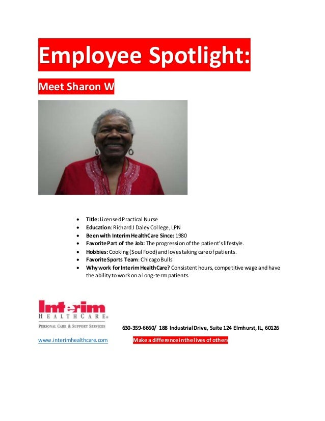interim healthcare employee login Interim HealthCare _ Employee Spotlight