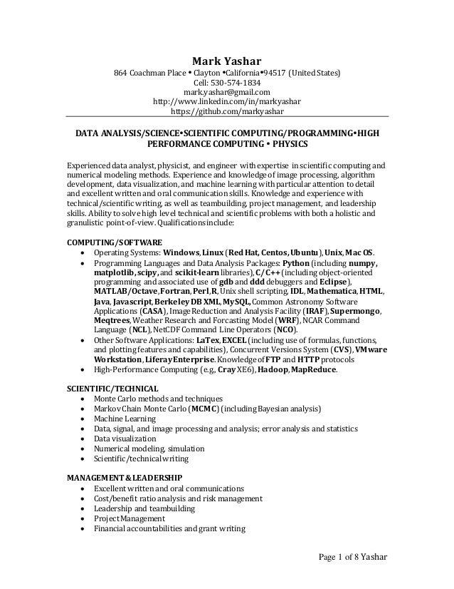 Page 1 of 8 Yashar Mark Yashar 864 Coachman Place  Clayton California94517 (United States) Cell: 530-574-1834 mark.yash...