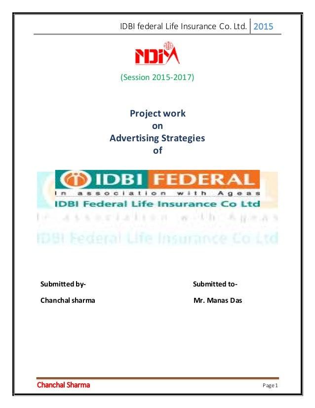 Advertising startegies of idbi federal life insurance