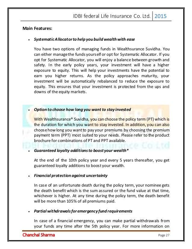IDBI Federal Life Insurance - Scribd