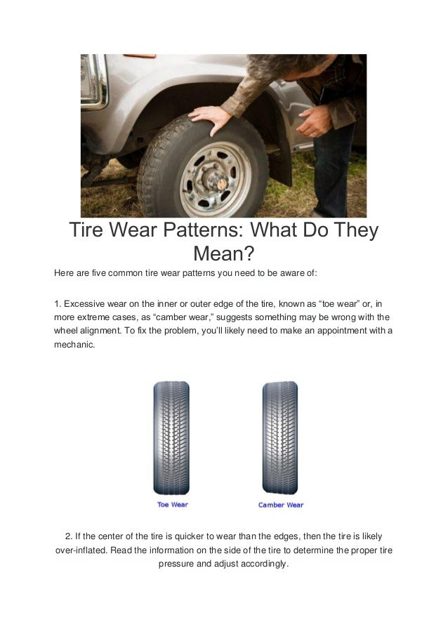 tire wear patterns what do they mean. Black Bedroom Furniture Sets. Home Design Ideas