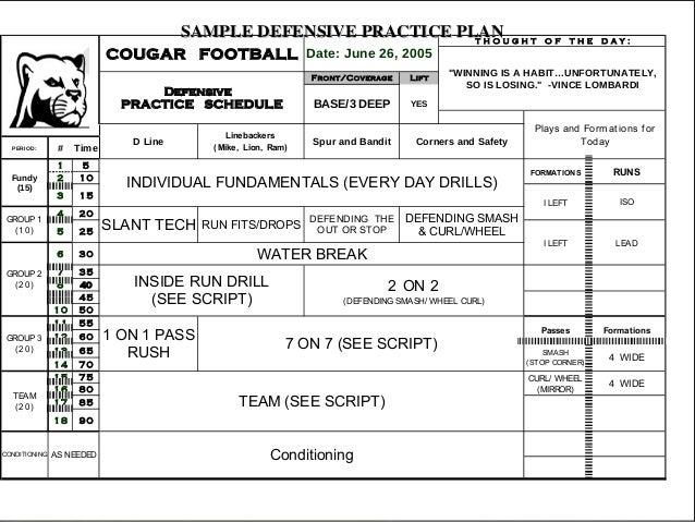 football practice schedule template download