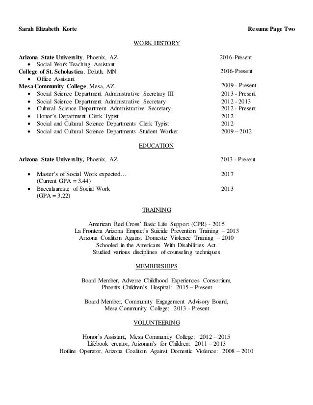korte resume