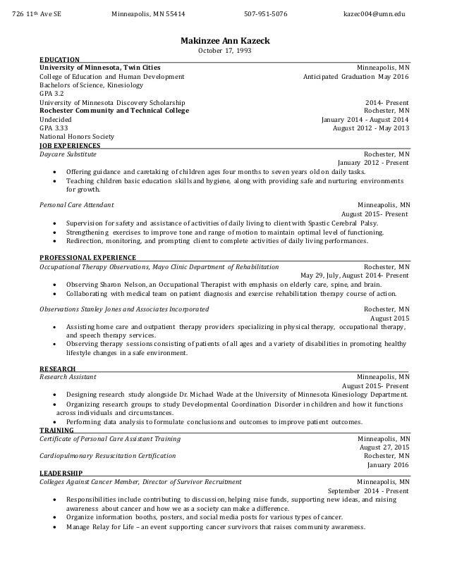 Makinzee A  Kazeck updated Resume