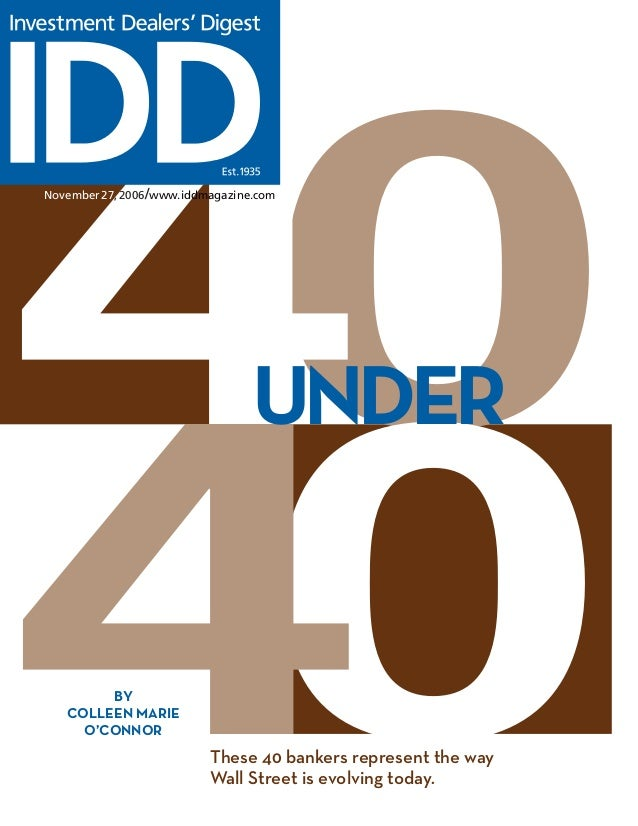 fn 40 under 40 in investment banking advisory services