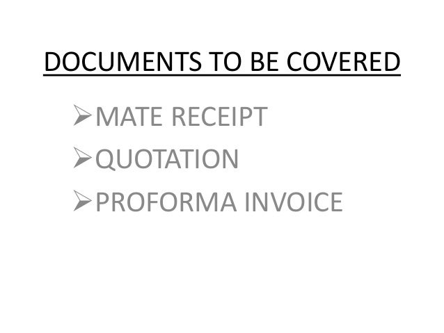 what is mate receipt
