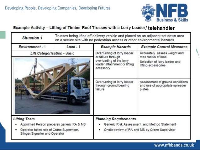 Telehandler training material | record of training logbook.
