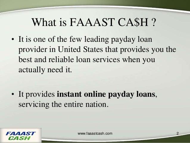 FaaastCash, Payday Loan Provider Company in California Slide 2