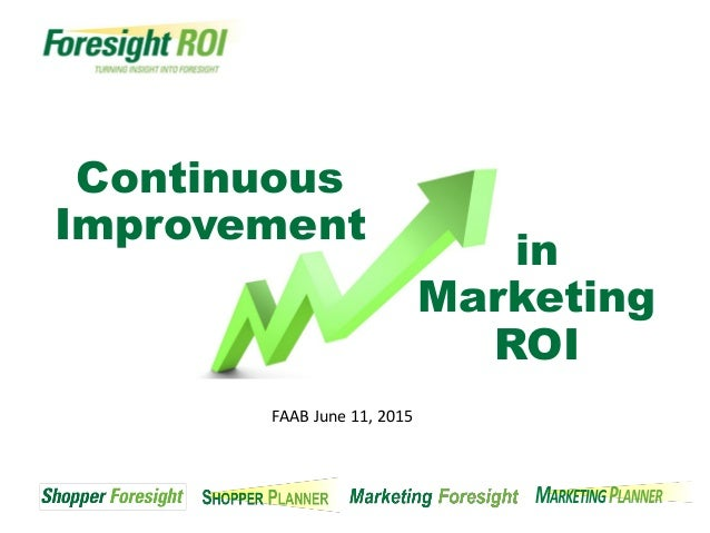 Continuous improvement in marketing roi for Home improvement roi