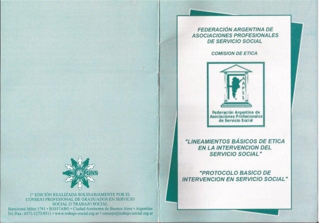 Protocolo de intervención en Servicio Social - FAAPSS
