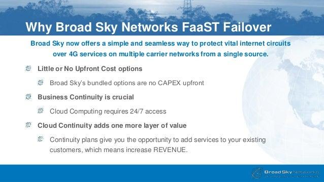 FaaST Failover Broad Sky Networks
