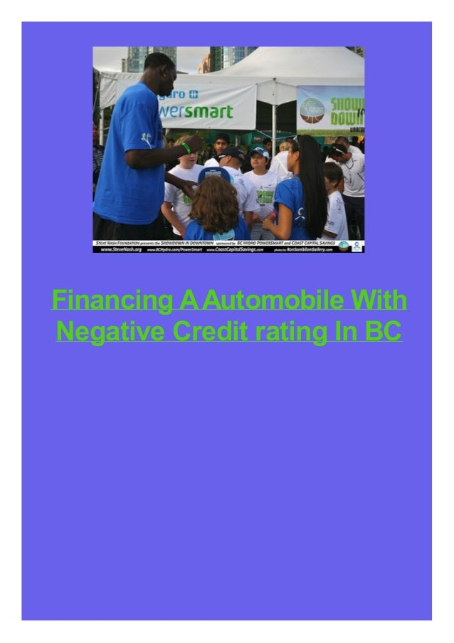 Financing A Automobile With Negative Credit rating In BC
