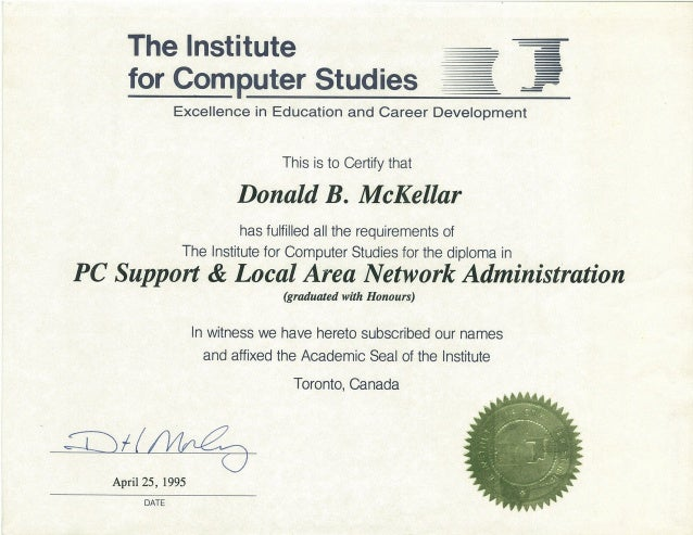 pc support specialist and local area network administrator diploma pl  pc support specialist and local area network administrator diploma plus marks