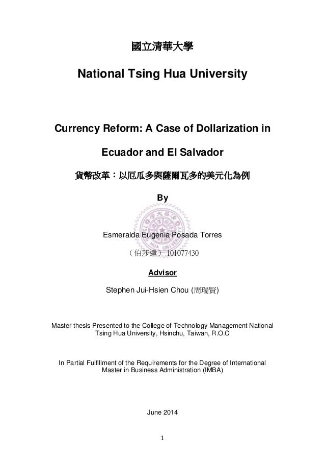 Thesis on dollarization
