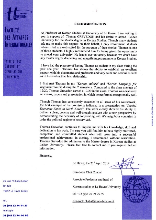 Recommendation letter korean teacher 2014 recommendation as professor of korean studies at university of le hawe i am writing to spiritdancerdesigns Image collections