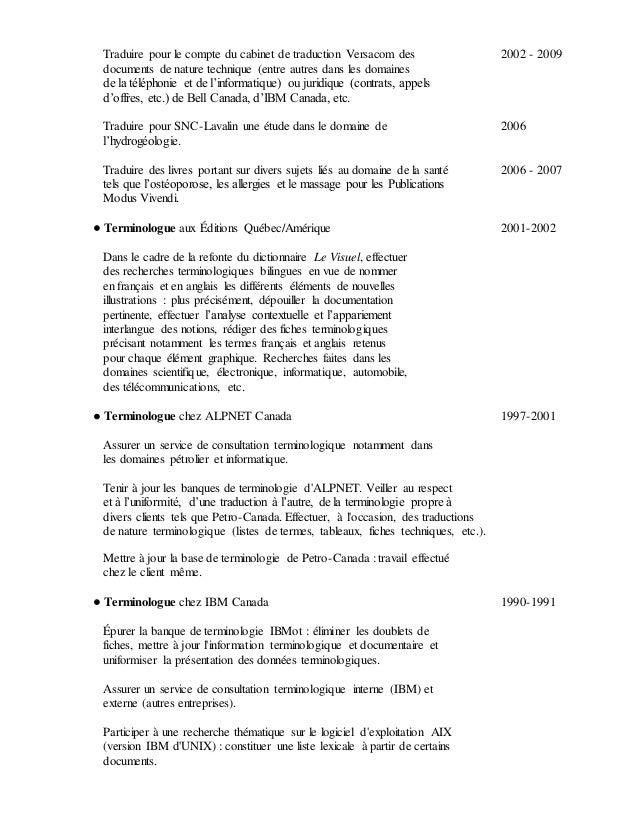Curriculum vitae - Bureau d etude traduction ...