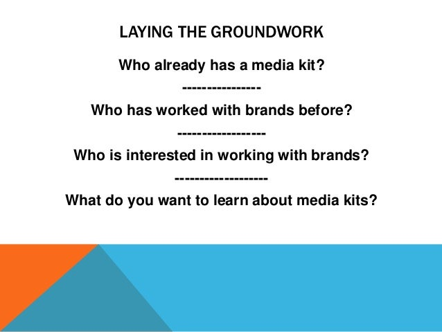 how to make a media kit for bloggers