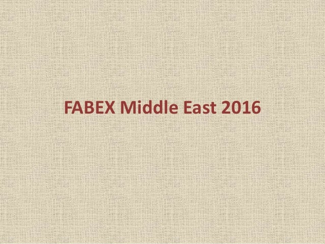 FABEX Middle East 2016