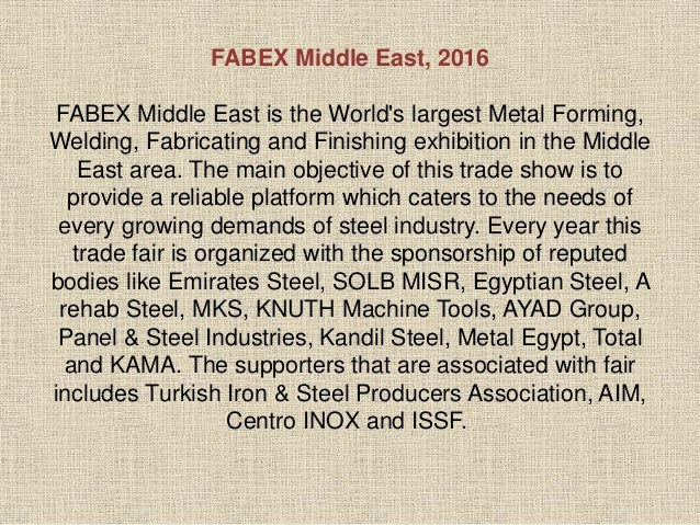 FABEX MIDDLE EAST 2016 Slide 2