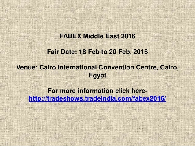 FABEX MIDDLE EAST 2016 Slide 3