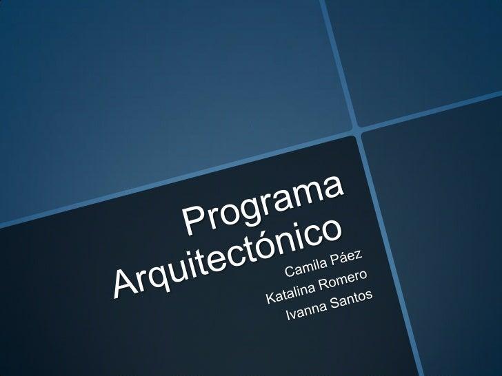 Programa arquitect nico for Programa arquitectonico